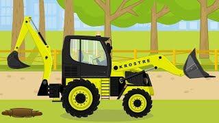 Koparko Ładowarka Maszyny Budowlane Bajka Dla Dzieci | Backhoe Loader #Excavator For Kids
