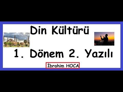 4. Sınıf Din Kültürü Dersi 1. Dönem 2. Yazılı (örnek 1)
