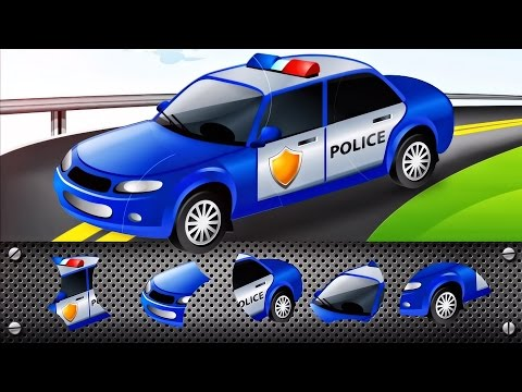 Transport Puzzle for Kids - Car, Police Car | Cars Puzzle for Toddlers : Videos for Children