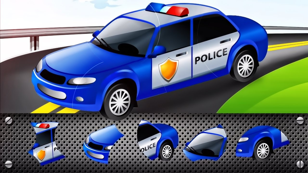transport puzzle for kids car police car cars puzzle for toddlers videos for children