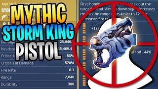 FORTNITE - New MYTHIC Storm King Pistol ONSLAUGHT Automatic Headshots!