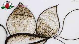 Learn shading technique with mehendi henna art : Hindi