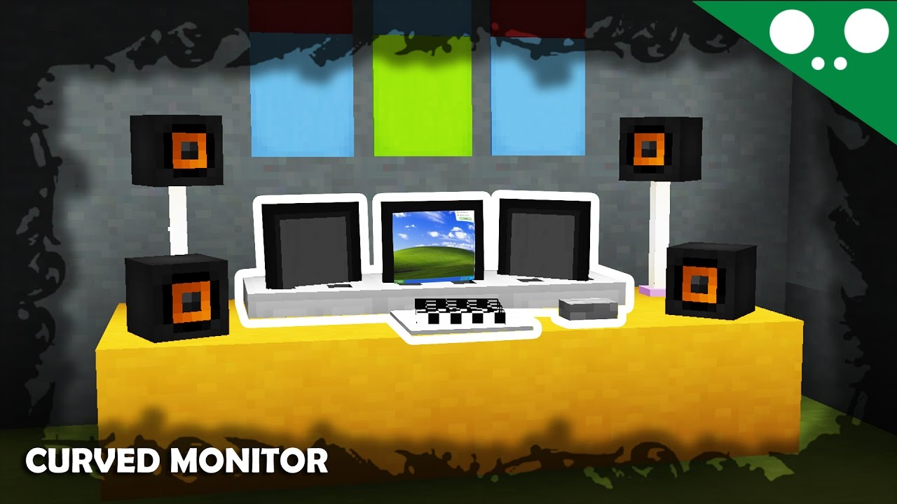 how to make a tv in minecraft. (☞ ͡° ͜ʖ ͡°)☞ Minecraft L How To Make An Ultrawide Curved Monitor! A Tv In