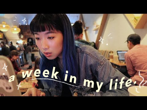 a week in my life as a nyc art student. 🥀