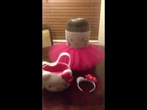 d0714c39e9d71 Hello Kitty Dress Tutu Costume - YouTube