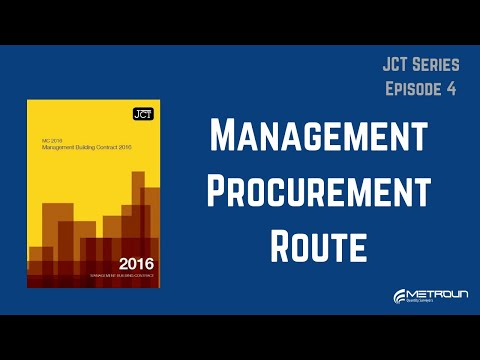 The JCT Management Procurement Route