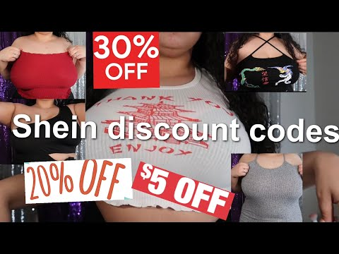 Shein discount codes 2021 for 30%-10% off | January 2021 new and working