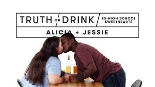 Ex High School Sweethearts (Alicia & Jessie) | Truth or Drink | Cut