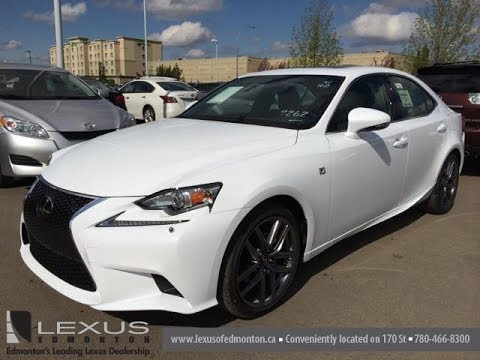 2014 lexus is 250 awd ultra white on black premium f sport package downtown edmonton youtube. Black Bedroom Furniture Sets. Home Design Ideas