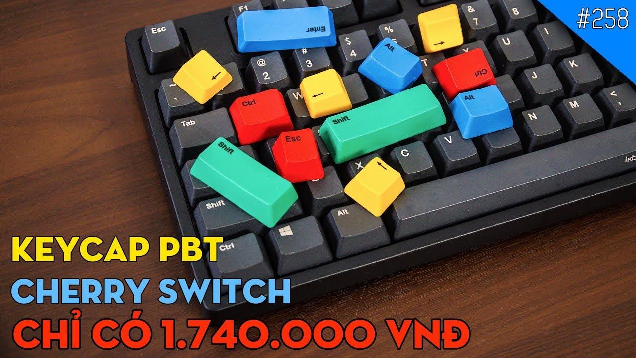 Trên tay bàn phím cơ Cherry Switch, Keycap PBT SIÊU RẺ IKBC CD108: Chưa đầy 2 TRIỆU