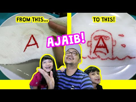TISU AJAIB CHALLENGE! FROM LETTER ABC