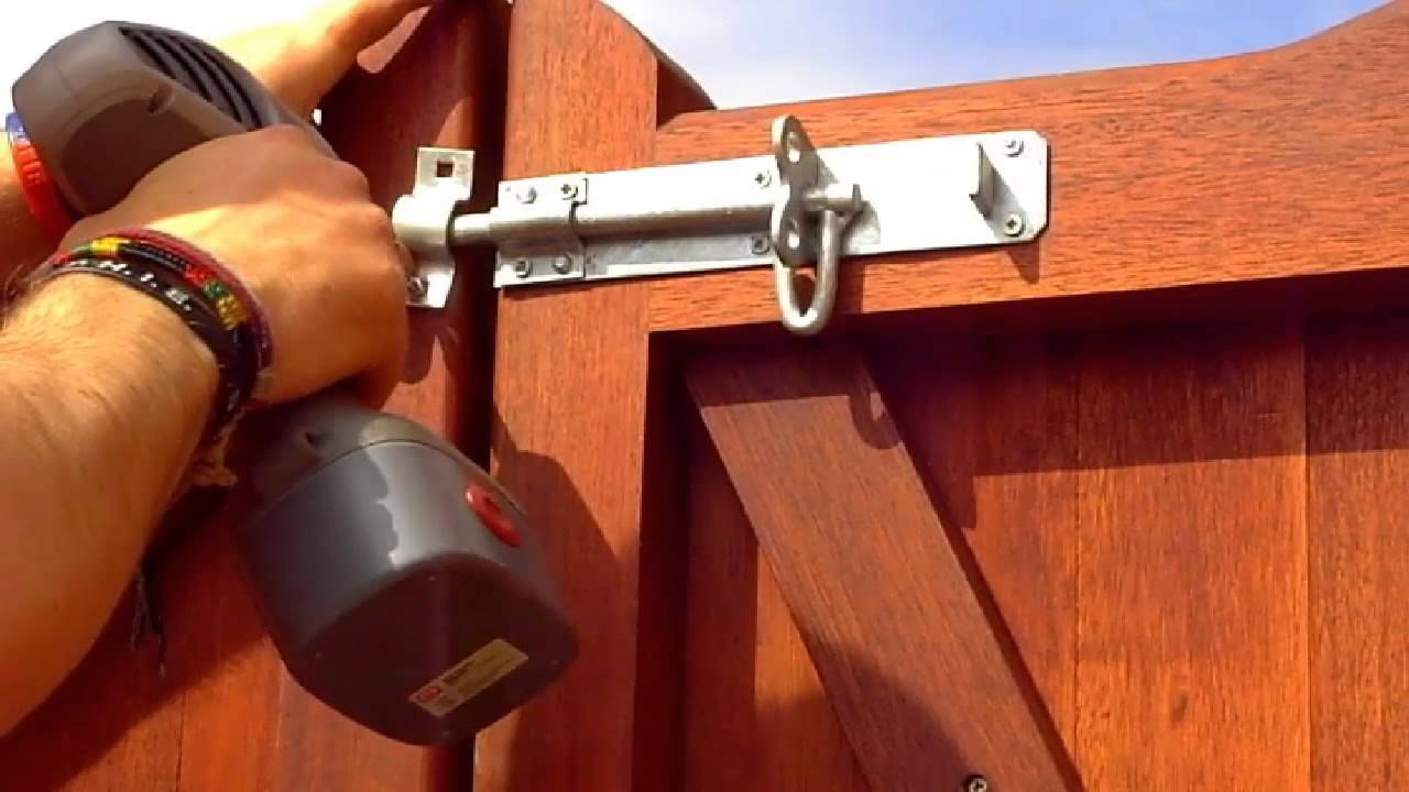 How To Fit A Padbolt Or Brenton Bolt To A Timber Gate