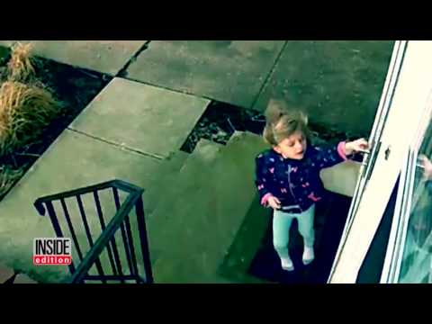 4-Year-Old Girl Unbelievably Hangs On Door After Being Swept Up By Wind Gust