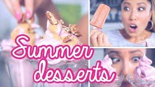 ☀ Healthy Summer Desserts ☀ Popsicles & Ice Cream Sundaes!