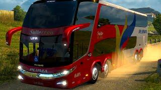 Euro Truck 2 Brasil: Viajando de ônibus - EAA mod Bus