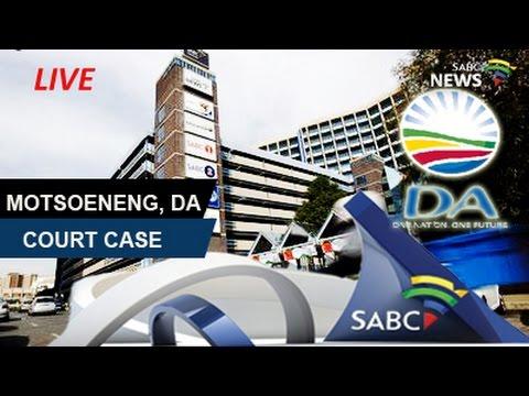 Motsoeneng, DA court case continues, 24 November 2016