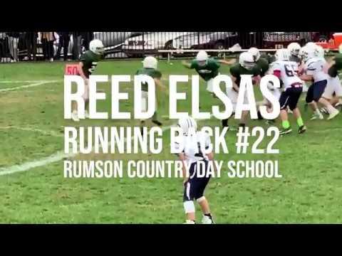 Reed Elsas, Running Back Highlight Film, Rumson Country Day School.