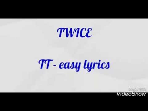 [EASY LYRICS] TWICE (트와이스) - TT (티티)