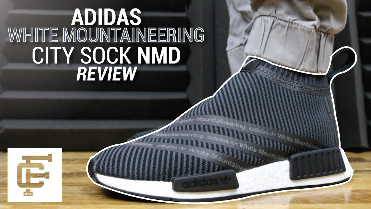160c63434ecac ADIDAS X WHITE MOUNTAINEERING CITY SOCK NMD REVIEW - YouTube