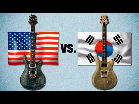 USA Paul Reed Smith vs Korean PRS SE