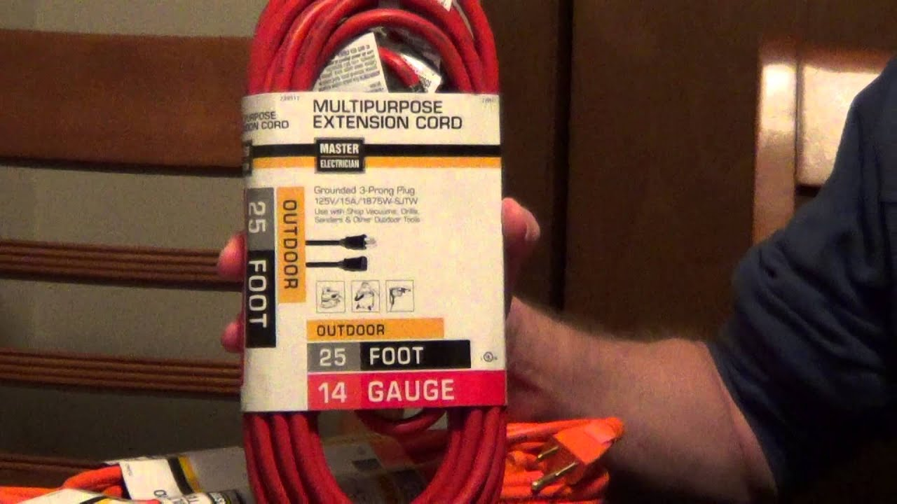How to Pick an Extension Cord - Extension Cord Safety - YouTube