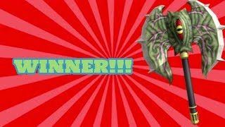 POSSESSED AXE GIVEAWAY WINNER!! (ROBLOX ASSASSIN)