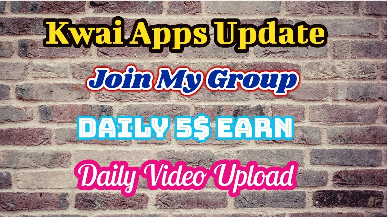Update Kwai Apps Video   Group Work Apps Join Messenger Group   Kwai Apps
