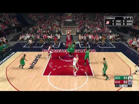 My League NBA 2K17: Boston Celtics vs Washington Wizards