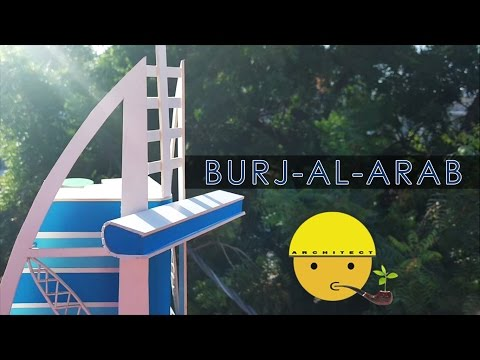How to make a model of Burj-al-Arab | Full Video | Model Mak