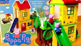 Peppa Pig Playground Construction Toys Mega Bloks Parque De Juegos De Peppa Pig Y George