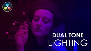 Dual Tone Lighting Effect - DaVinci Resolve Tutorial - No Plugins