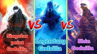 Singular point Godzilla vs Legendary Godzilla vs Shin Godzilla || Explained in Hindi || multi versh