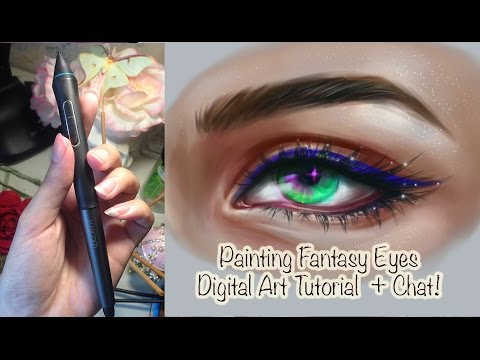 Fantasy Eyes tutorial || Colors, Blending, Concept