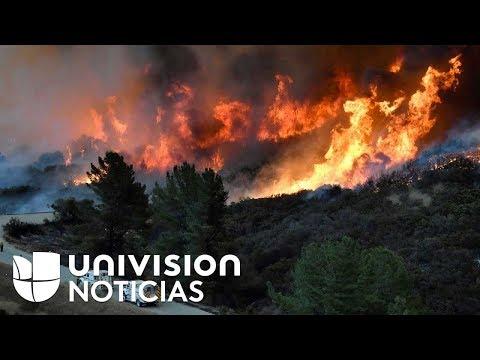 Los incendios forestales del sur de California abarcan el tamaño de Nueva York y Boston juntas