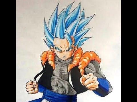 Desenhando Gogeta Ssj Blue Dragon Ball Super Youtube
