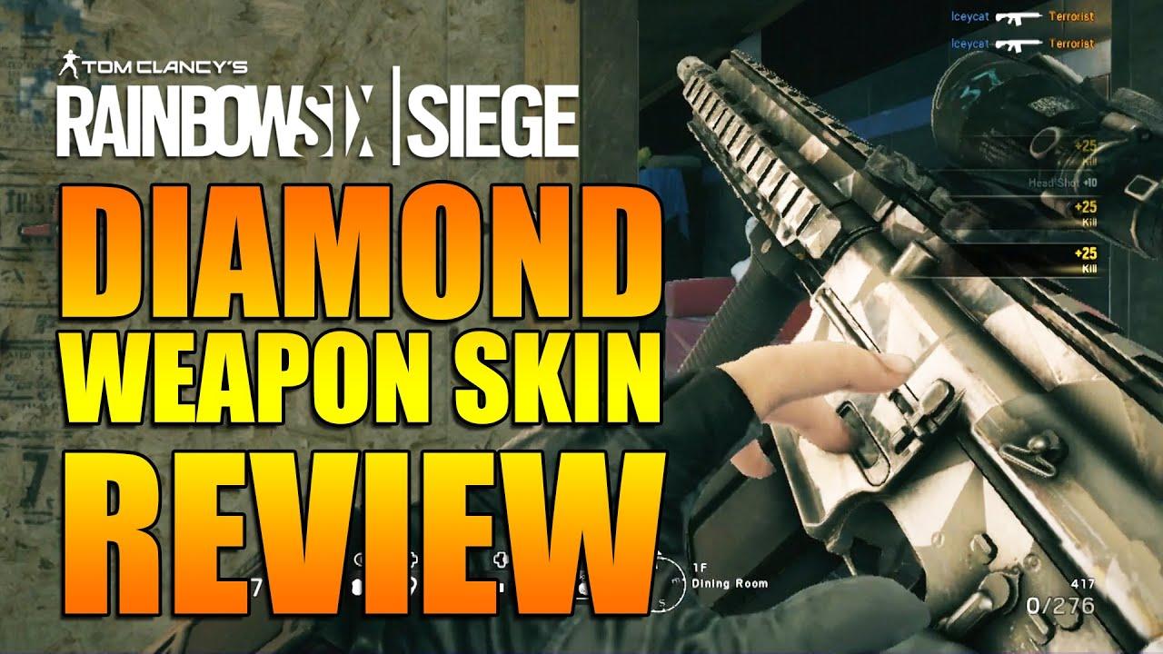 Rainbow Six Siege - In Depth: DIAMOND WEAPON SKIN REVIEW