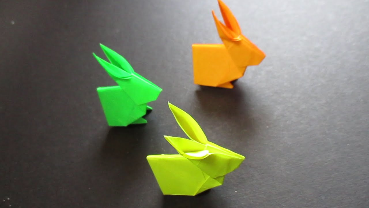 rabbit origami easy tutorial origami handmade