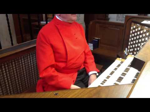 Peter Beaven plays the mighty Allen Organ at the Royal Military Academy Chapel - take one