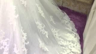 Свадебное платье с рукавами от салона Vivat в Алматы