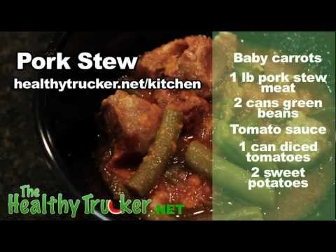Slow Cooker Recipe For Pork Stew - Recipes For Truck Drivers