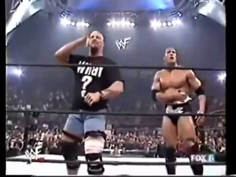 Stone Cold Returns and saves The Rock