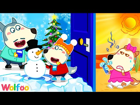 Wolfoo Builds a Winter Play Center in the House for Lucy - Summer vs Winter | Wolfoo Channel