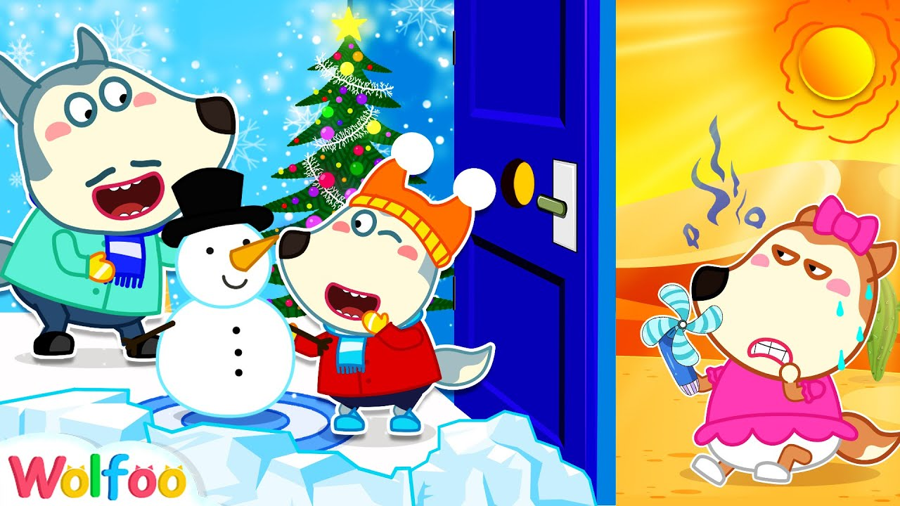 Download Wolfoo Builds a Winter Play Center in the House for Lucy - Summer vs Winter | Wolfoo Channel