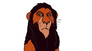 How To Draw Scar (THE LION KING)