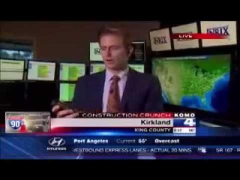 INRIX Monitors I-90 Construction Crunch: KOMO News 6am Broadcast, July 22, 2014