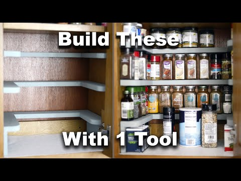 DIY Spice Rack Cabinet Shelves | Free Plans | Beginner Woodworking Project