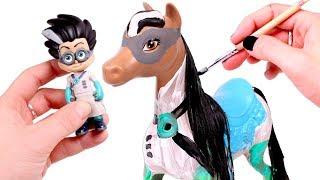PJ MASKS ⚡🐴 Transformamos al caballo de Romeo de los Héroes en Pijama