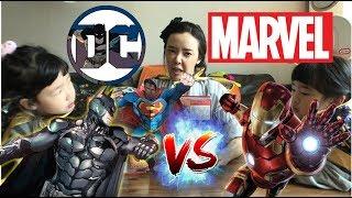 DC 히어로 총출동 어벤져스 l DC VS 마블 l 여러분들이 좋아하는 히어로는 누구? 아쿠아맨, 원더우먼, 배트맨, 슈퍼맨, 아이언맨 l MARVEL VS DC HEROES