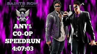Saints Row IV ⚜️⚜️⚜️  | Co-Op Any% Speedrun | World Record 6/08/2016  | 4:07:03 | Great Speedgame 👍🏿