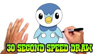 Piplup (Pokemon)- Speed Draw Preview